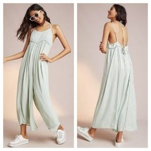NEW Anthropologie Mint Halsey Embroidered Jumpsuit